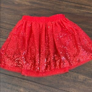 Cat & Jack Red Sequin Skirt